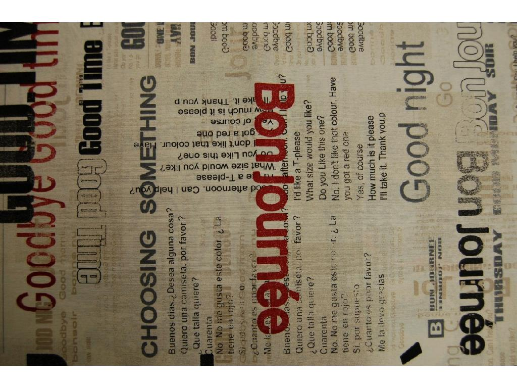 Tessuto stampato disegno testate giornali e riviste