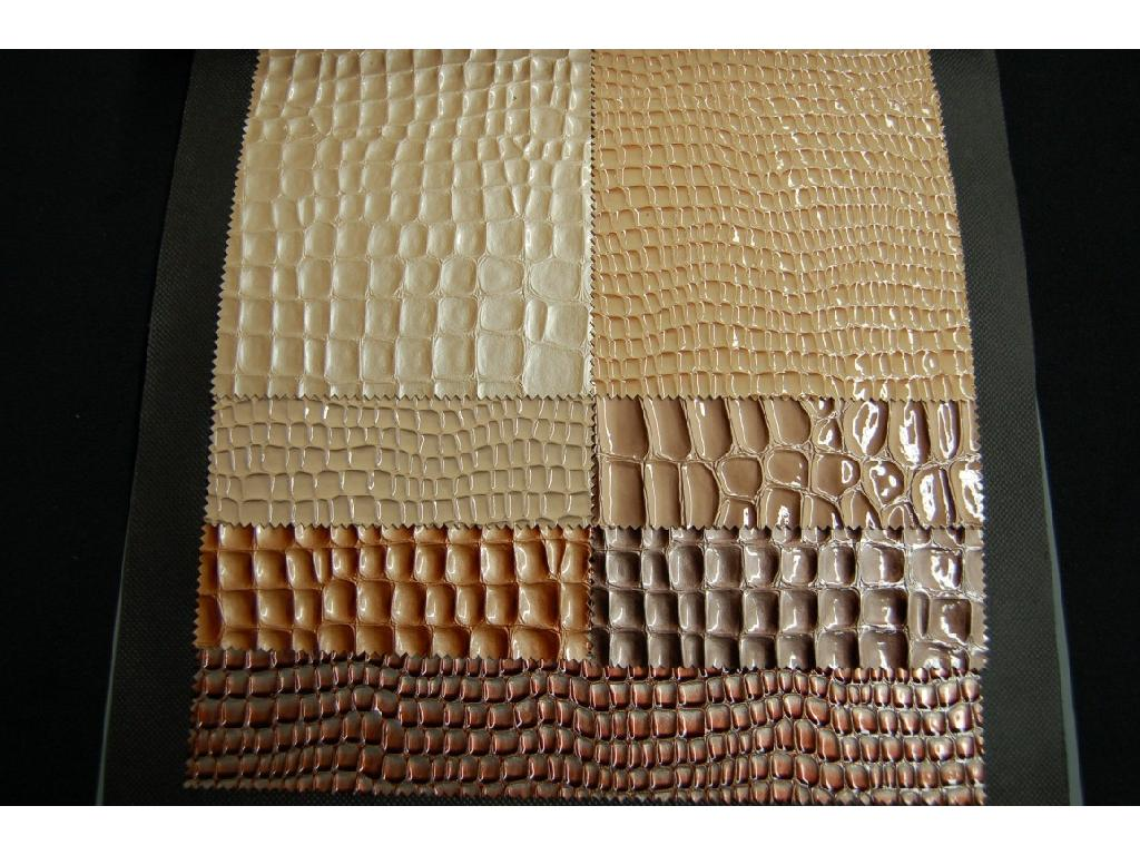 Finta pelle disegno coccodrillo lucida, laccata, glitter, vernice