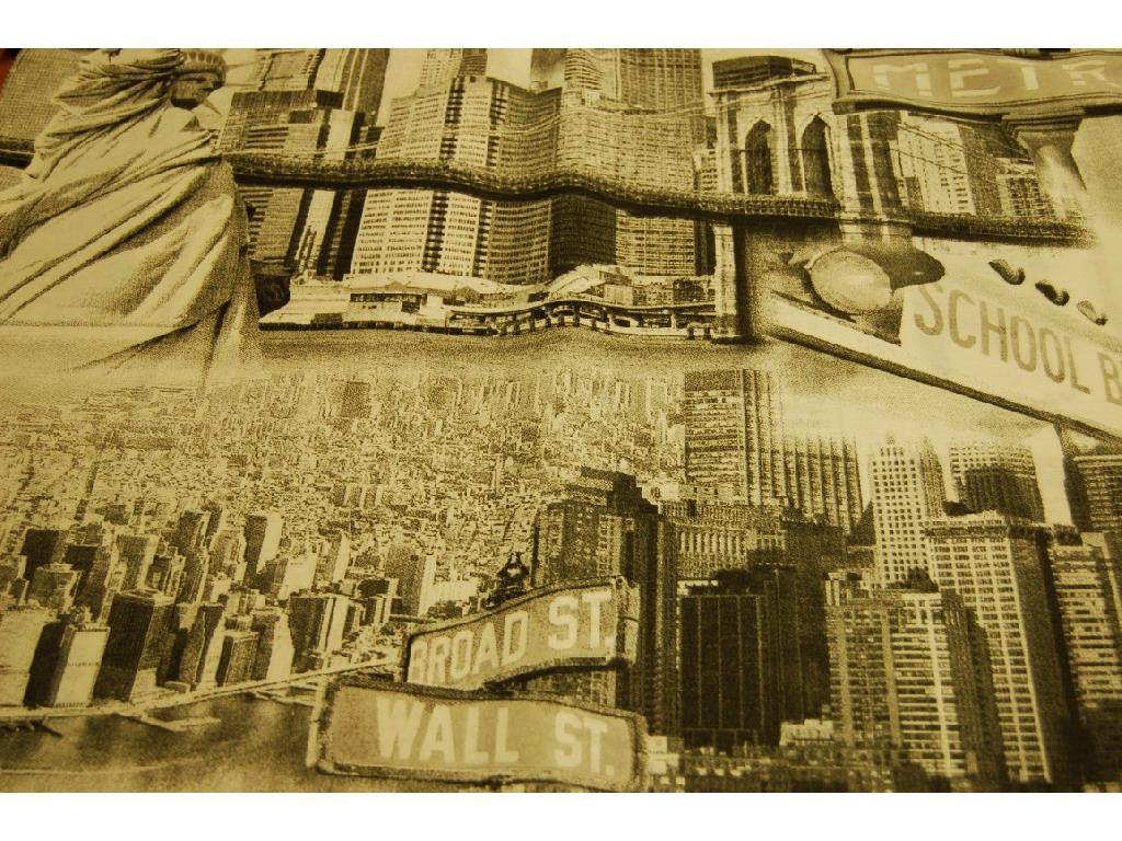 Tessuto stampato disegno New York
