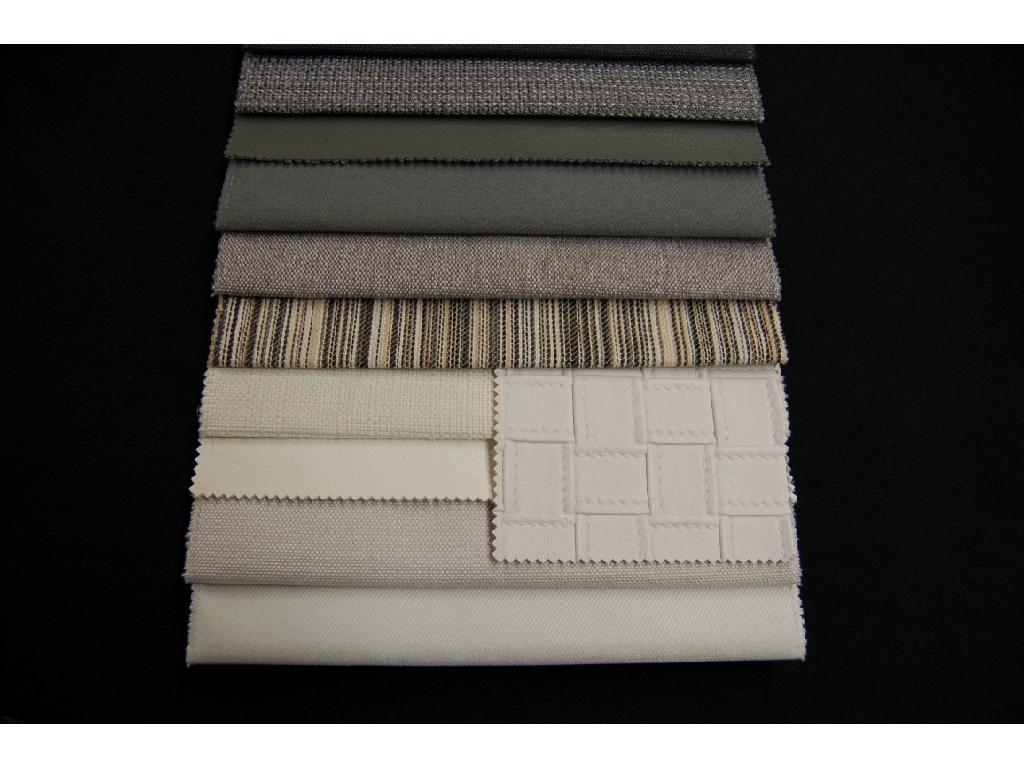 Tessuti uniti e rigati coordinabili con eco-pelle lavabili in acqua