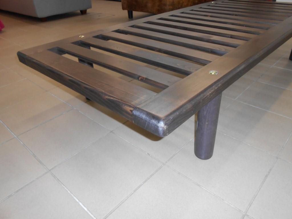 Rete letto in legno massello