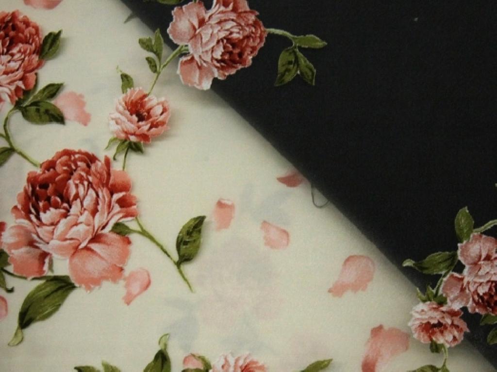 Cretonne fiore provenzale coordinato con tenda